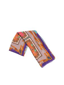 Etro - Multicolor scarf with animal print