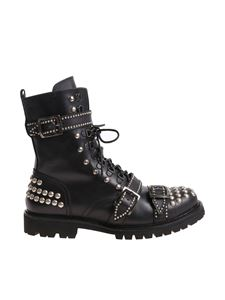 Christian Pellizzari - Black boots with silver-colored metal studs