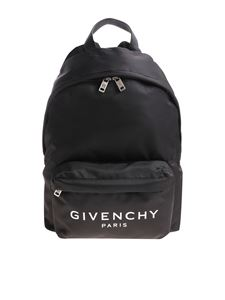 Givenchy - Black backpack with contrasting logo