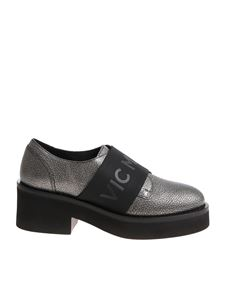 Vic Matiè - Silver shoes with branded elastic