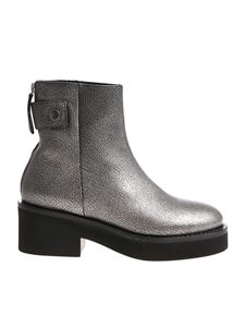 Vic Matiè - Silver ankle boots with zip