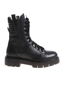 oXs - Black ankle boots with laces
