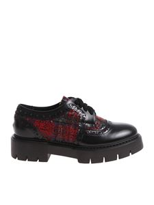 oXs - Black Derby shoes with tartan inserts
