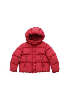 Moncler Jr - Burgundy Caille down hooded jacket