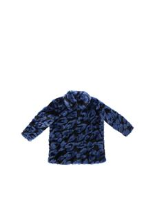 Stella McCartney Kids - Blue and black Gaia eco-fur jacket