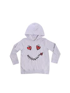 Stella McCartney Kids - Heath Smile grey hoodie