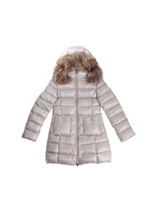 Herno - Flared pearl grey down jacket