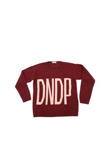 Dondup - Burgundy pullover with pink logo