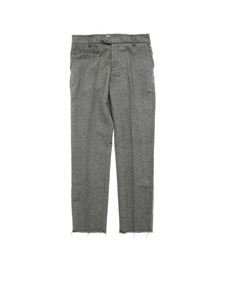 Dondup - Aslan gray diagonal fabric trousers