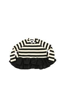 Monnalisa - Striped black and beige sweater