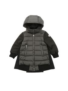 Moncler Jr - Blois gray and black down jacket