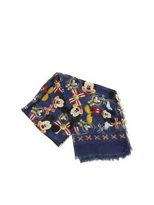 Monnalisa - Blue printed Mickey Mouse scarf