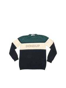Dondup - Blue pullover with beige logo