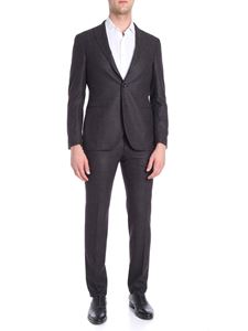 The Gigi - Grey, black and burgundy 3 button suit