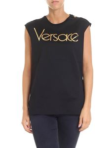 Versace - Black top with logo