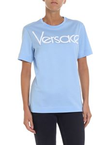 Versace - Light blue t-shirt with logo