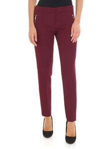 Trussardi Jeans - Burgundy trousers with golden zips