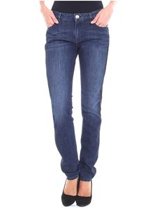 Trussardi Jeans - Blue jeans with side black insert