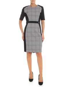 Trussardi Jeans - Black dress with checked insert