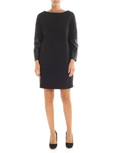 Trussardi Jeans - Black dress with eco-leather details