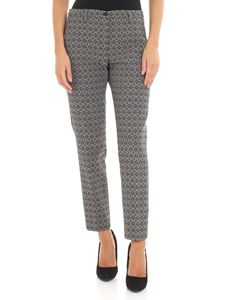 Seventy - Black and beige jacquard trousers