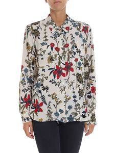 Seventy - Beige shirt with multicolor floral print
