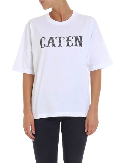 Dsquared2 - White t-shirt with caten print