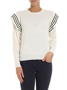Red Valentino - Cream-colored sweater with ruffles