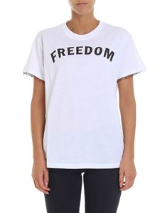 Red Valentino - Freedom printed white t-shirt