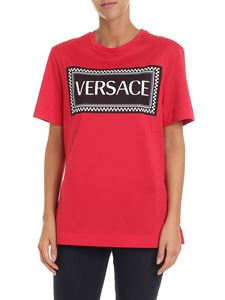 Versace - Red t-shirt with logo
