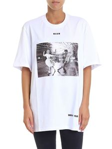 MSGM - White sock hop printed t-shirt