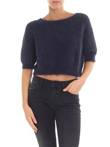 Roberto Collina - Blue crop sweater