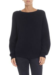 Max Mara Weekend - Novella blue fisherman ribbed pullover
