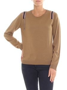 N° 21 - Camel colored sweater with rhinestones