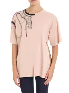 N° 21 - Pink t-shirt with brooches detail