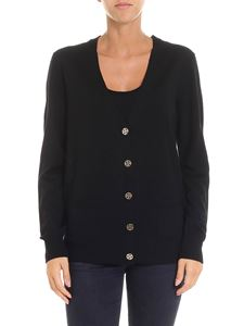 Tory Burch - Black cardigan with logo details