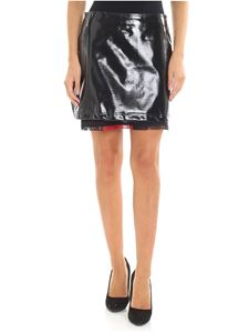 Pinko Uniqueness - Balsamo 1 patent leather black skirt