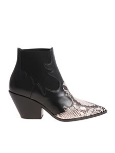 Casadei - Texan ankle boots with animalier tip