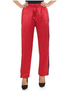 Giamba Paris - Red trousers with purple inserts