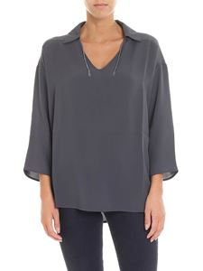 Fabiana Filippi - Charcoal blouse with micro beads