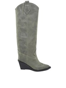 MM6 by Maison Martin Margiela - Cowboy green boots