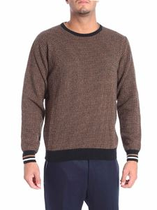 Altea - Brown and black houndstooth pullover