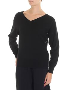 Alexander Wang - Black pullover with silver zip