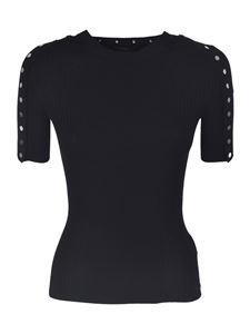Alexander Wang - Black t-shirt with buttons