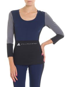 Adidas by Stella McCartney - Blue, black and gray Yoga Comfort top