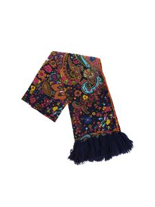 Altea - Multicolor floral scarf with tassels
