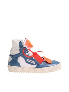 Off-White - Low 3.0 white and blue sneakers