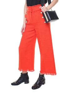 MSGM - Red tweed trousers