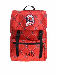 Pinko - Red and black Jolly In Love backpack