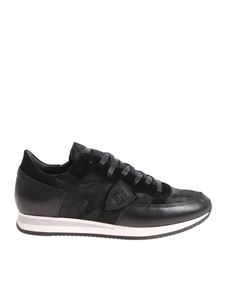 Philippe Model - Tropez L camouflage printed black sneakers